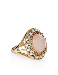 Claudia Gold Plated Rose Quartz Ring