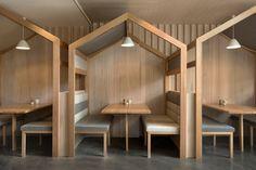 Деревянное кафе в Мельбурне Kitty Burns: фото интерьеров | AD Magazine