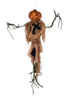 Hanging Pumpkin Head w/ Ropes (scarecrow idea)
