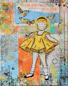 """Fine art print by Janelle Nichol (Little Ladies by Janelle).    I watched her twirl around & giggling as she caught her balance. I caught my breath as she looked up at me with her bright eyes & her wide smile. For there were many things that I valued in my life but nothing....nothing compared to this """"Treasure."""""""