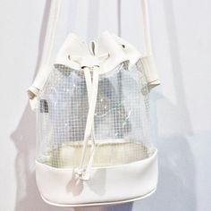 clear grid panel bag  grid pastel minimal pale neogal fachin bag clear accessories etsy