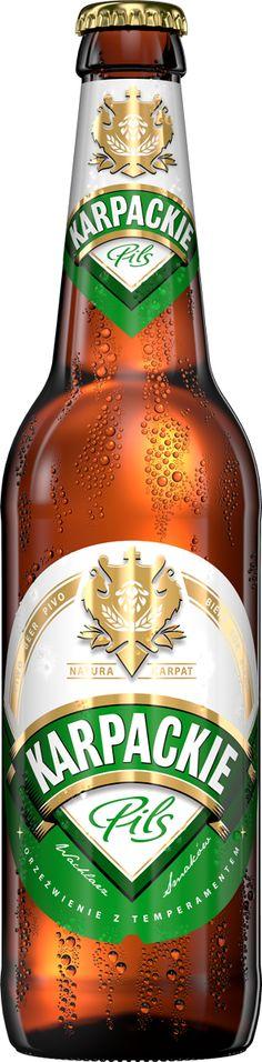 Karpackie 3D beers packshot renderings by CGproducts, via Behance