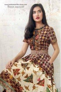 batik amarillis's rive gauche dress
