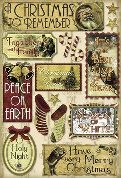 Karen Foster Vintage Christmas Holy Night Cardstock Sticker