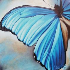Realistic butterfly paintings - photo#14