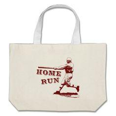Cool Vintage Home Run Baseball Illustration Bags