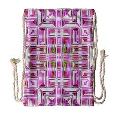 Modern Pattern Factory 01 Drawstring Bag (Large)