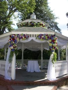 Pavilion would be wonderful to get wed under! <3