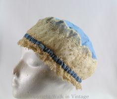 Edwardian Lace Cap Hat, Boudoir Nightcap
