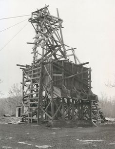 Pennsylvania Coal Mine Tipples by Bernd & Hilla Becher. Dia Center for the Arts, 1991.