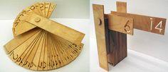 Wood calender. gorgeous