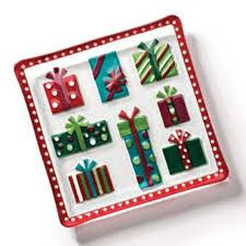 Image result for fused glass christmas present
