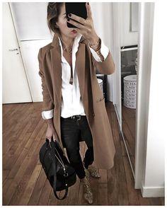 """12.3k Likes, 209 Comments - Audrey Lombard (@audreylombard) on Instagram: """"Tenue du jour : les vêtements de l'année dernière avec les sacs et boots de cette année ✨ • Coat…"""""""