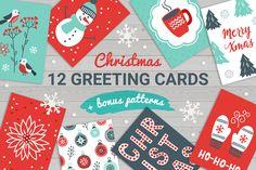 12 Christmas Cards Bonus Patterns  -  https://www.designcuts.com/product/12-christmas-cards-bonus-patterns/