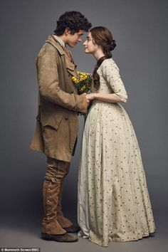 Sweet: The pair will no doubt tug at the heartstrings of viewers as they embark on a romance similar to that of Romeo and Juliet - as members of the warring Poldark and Warleggan clans