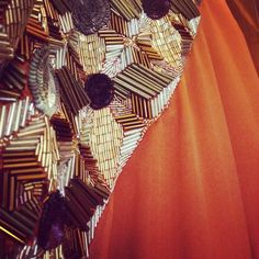 DevilishDetails Blush orange with sequins and pipping. #newdeigns #newcollection #orange #golden #handwork #patterns #sequins #simonebysimransingh