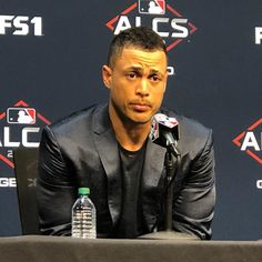 """Bryan Hoch on Instagram: """"Giancarlo Stanton on facing the Astros' big arms: """"They're going to give you a good pitch to hit, but you may just get one. We've got to…"""" Giancarlo Stanton, Bigger Arms, Ny Yankees, Get One, Pitch, Face, Instagram, Faces, Facial"""