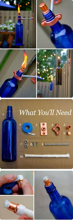 Check out the tutorial on how to make easy DIY outdoor tiki torch lights @istandarddesign
