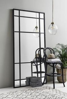 The Extra Large Black Iron Mirror from Design Vintage has a huge impact on any room. Industrial crittall styling perfect for the bedroom, dressing room or bathroom. Plywood Furniture, Design Furniture, Car Furniture, Farmhouse Bathroom Mirrors, Bathroom Wall Decor, Living Room Mirrors, Living Room Decor, Living Rooms, Modern Room