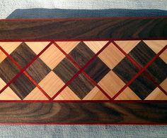 This is a simple step-by-step guide to make this awesome argyle pattern cutting board. Yes, it requires having tools... and yes, you need to know how to use those tools. Please use common sense with working with wood. Wear a dust mask and use eye protection!