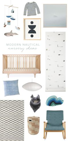 Modern nautical nursery ideas on 100 Layer Cakelet