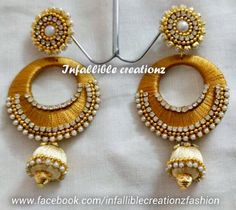 To order Whatsapp +91 9791090024 Email: infalliblecreationz@gmail.com For classic collection visit: www.facebook.com/infalliblecreationzsilk Silk thread earrings,silk thread jhumkas, silk thread hangings,Bridal earrings,Earrings,Party wear earrings,Return gifts for ladies, Infallible creationz,Beautiful earrings, Bridal jhumkas, party wear silk Thread jhumkas, Jhumkas With colored stone studs, beautiful earrings, chandbali earrings
