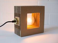 DIY Kit für eine Lampe aus Wellpappe, Bau Dir Deinen Lampenschirm einfach selbst / diy kit for building a lamp shade out of cardboard via DaWanda.com