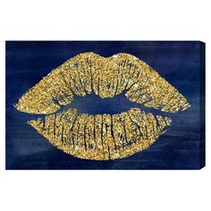 Solid Kiss Navy Glitter Canvas Print, Oliver Gal at Joss and Main Glitter Kunst, Glitter Canvas, Glitter Art, Glitter Walls, Glitter Boots, Glitter Crafts, Glitter Vinyl, Glitter Bedroom, Gold Bedroom
