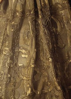 detail of a gold-thread lace dress, Portrait of Empress Anna Ioannovna by Louis Caravaque, 1730 Franz Xaver Winterhalter, Motifs Textiles, Textile Fabrics, Hans Holbein, Gold Aesthetic, Merian, Classical Art, Oeuvre D'art, Fashion Details