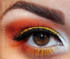 witch makeup   Candy Corn Witch Makeup