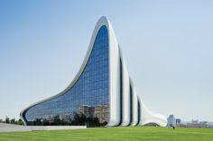 Futuristic Architecture, Heydar Aliyev Cultural Center by Zaha Hadid Architects, Baku, Azerbaijan