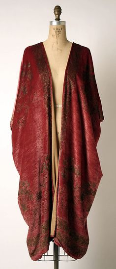 Evening coat  Mariano Fortuny  (Spanish, Granada 1871–1949 Venice)  Design House: Fortuny (Italian, founded 1906) Date: probably 1920s Culture: Italian Medium: silk