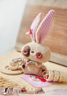 Bunny rabbit plush children toy. par BunnyintheCup sur Etsy, $39.00