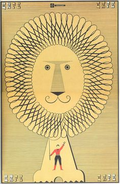 Circus moscow poster, 1968