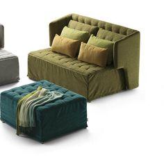 Sofa bed / Art Deco / fabric / 2-seater DORSEY by Sabina Sallemi Milano Bedding