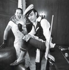 John Galliano with Lady Amanda Harlech at Bergdorf Goodman in New York, 1995.