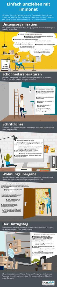 Einfach Umziehen mit #Immonet: Bei einem Umzug verliert man schnell mal den Überblick. Für den reibungslosen Ablauf ist daher eine gute Umzugsplanung wichtig. Die Grafik von Immonet hilft, den Umzug stressfrei über die Bühne zu bringen und die wichtigsten Erledigungen nicht aus den Augen zu verlieren: http://www.immonet.de/umzug/umzugsorganisation-grafik.html