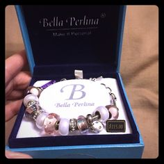 $35 Christmas Special: Beautiful bracelet  The perfect gift, Bella Perlina pink & pearly interchangeable beaded bracelet. Jewelry Bracelets