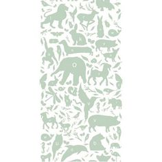KEK Amsterdam Wallpaper Dieren ABC 146,1 x 280 cm - Groen
