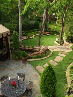 Low maintenance landscaping with artificial grass. #NoMowing #NoWatering #DreamBackyard