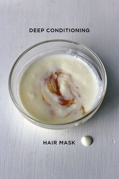 ingredients (double up for long hair): - 2 tablespoons natural yogurt - 1 tablespoon honey - 1/4 tsp coconut oil for thin hair, 1/2 tsp coconut oil for thicker hair (see how your hair soaks in the oil – mine can only take a drop!) - if your coconut oil is hard, go ahead and melt it down - combine all of the ingredients together - work the mask onto your hair, from the scalp to the ends - give your scalp a good massage – you want the mask to cover your scalp - leave the mask on for 15 -20 ...