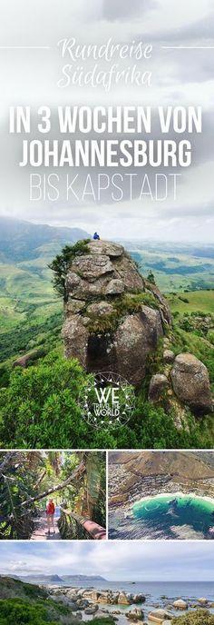 Südafrika Urlaub – In diesem Artikel beschreiben wir unsere Südafrika Route für eine 3-wöchige Südafrika Rundreise mit allen Stationen, Tipps & Südafrika Highlights. Von Johannesburg bis Kapstadt. #südafrika #roadtrip #reisetipps