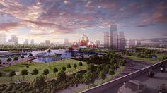Đề xuất dự án kiến trúc hình dáng hoa sen tại Hà Nội