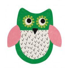 Tapis Enfant  Little Owl Emerald