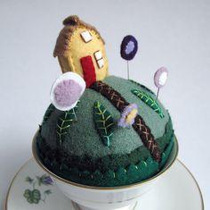 Tiny World Pincushions by Mimi K, how creative!
