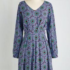 Modcloth floral dress. Gorgeous! NWT! It's a 12uk. I would recommend this one to large chested women (that's why it doesn't fit me right). New! ModCloth Dresses Long Sleeve