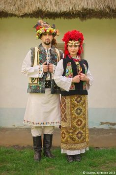 Young Hutsul couple, western Ukraine.