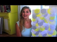 Easy Tissue Paper Wall Art  DIY Nursery Series with i heart stitching. #DIY