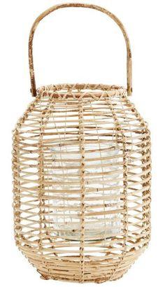 Madam Stoltz Madam Stoltz Bamboe lantaarn naturel