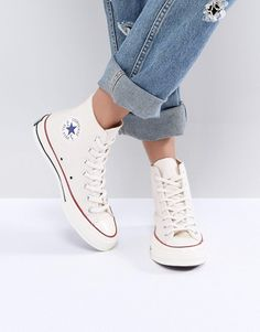 Shop Converse Chuck Taylor All Star High Top Trainers In Beige at ASOS. d8b0ca9ebd